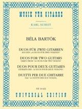 Béla Bartók - Duos 1931) - Partition - di-arezzo.fr