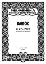Béla Bartok - Piano Concerto n° 2 – Score - Partition - di-arezzo.fr