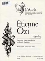 Sonate n° 3 pour basson et clavecin Etienne Ozi laflutedepan.com
