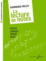 La Lecture de Notes Dominique Millet Partition laflutedepan.com