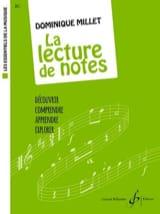 La Lecture de Notes Dominique Millet Partition laflutedepan.com