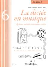 La Dictée en Musique - Corrigé - Volume 6 laflutedepan.com
