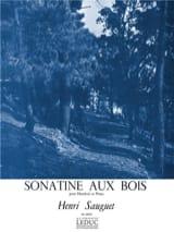 Henri Sauguet - Sonatine Aux Bois - Hautbois et Piano - Partition - di-arezzo.fr