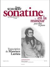SCHUBERT - Sonatine the minor op. posth. 137 n ° 2 D. 385 - Piano flute - Sheet Music - di-arezzo.com