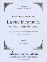 La Rue inconnue Claude-Henry Joubert Partition Alto - laflutedepan.com