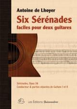 6 Sérénades Faciles Antoine de Lhoyer Partition Guitare - laflutedepan