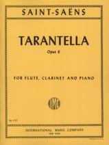 Tarentelle, opus 6 Camille Saint-Saëns Partition laflutedepan.com