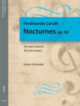 Ferdinando Carulli - Nocturnes, op. 90 - Partition - di-arezzo.fr