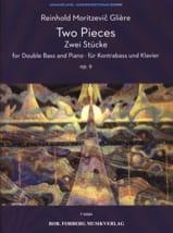 2 Pièces, opus 9 Reinhold Glière Partition laflutedepan.com