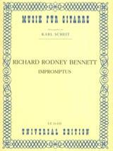 Impromptus Richard Rodney Bennett Partition laflutedepan.com