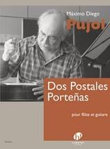 Dos Postales Portenas Maximo Diego Pujol Partition Duos - laflutedepan