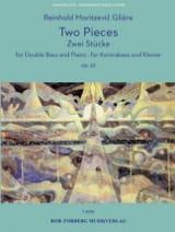 2 Pièces, opus 32 Reinhold Glière Partition laflutedepan.com