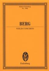Concerto pour Violon BERG Partition Petit format - laflutedepan