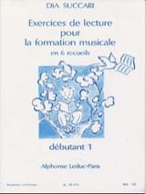 Dia Succari - Reading Exercises - Deb. 1 - Sheet Music - di-arezzo.com