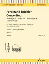 Ferdinand Küchler - Concertino, op. 15 - Sheet Music - di-arezzo.co.uk