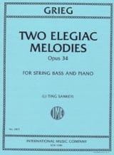 2 Mélodies Elégiaques, op. 34 Edvard Grieg Partition laflutedepan.com