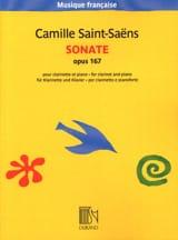 Camille Saint-Saëns - Sonate opus 167 - Sheet Music - di-arezzo.com