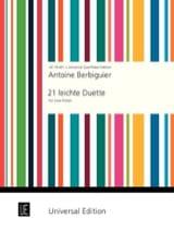 Benoît-Tranquille Berbiguier - 21 Leichte Duette - 2 Flûtes - Partition - di-arezzo.fr