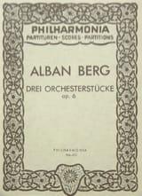 3 Orchesterstücke op. 6 - Partitur BERG Partition laflutedepan