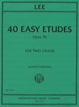 40 Etudes faciles, opus 70 Sebastian Lee Partition laflutedepan