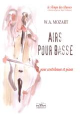 Airs pour Basse MOZART Partition Contrebasse - laflutedepan