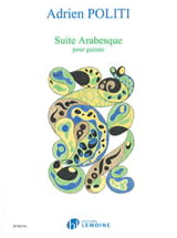 Suite Arabesque Adrien Politi Partition Guitare - laflutedepan