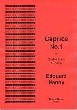Caprice No.1 Edouard Nanny Partition Contrebasse - laflutedepan