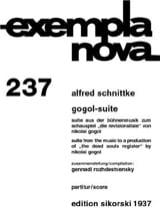 Gogol-Suite SCHNITTKE Partition Grand format - laflutedepan
