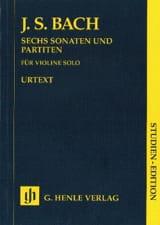 Sonates et Partitas BWV 1001-1006 pour violon solo laflutedepan.com
