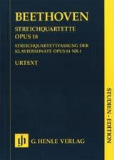 BEETHOVEN - Quartetti per archi op. 18 n. 1-6 - Partitura - di-arezzo.it