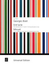 BIZET - Entr'acte Carmen / Minuet Arlésienne Suite 2 - Flute piano harp - Sheet Music - di-arezzo.com