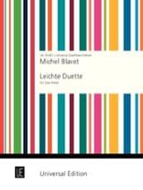 Leichte Duette - 2 Flöten Michel Blavet Partition laflutedepan.com