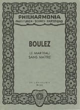 Pierre Boulez - The hammer without a master - Partitur SOLD OUT - Sheet Music - di-arezzo.com
