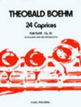 24 Caprices op. 26 Theobald Boehm Partition laflutedepan.com