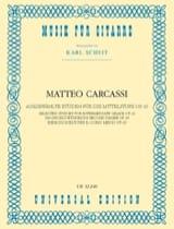 Matteo Carcassi - Ausgewählte Etüden für die Mittelstufe - Partition - di-arezzo.fr
