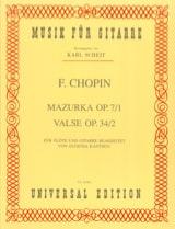 Mazurka Op.7 N°1 & Valse Op.34 N°2 CHOPIN Partition laflutedepan.com