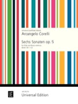 6 Sonaten op. 5 - Bd. 1 - Flöte und Bc CORELLI laflutedepan.com