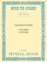 Napoléon Coste - 9 Studien - Partition - di-arezzo.fr