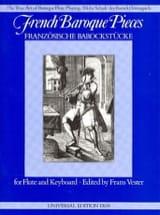French Baroque Pieces - Flute Frans Vester Partition laflutedepan.com