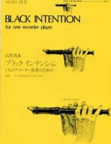 Black intention - Recorder Maki Ishii Partition laflutedepan.com
