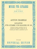 Antonio Diabelli - Sonatine für Gitarre und Klavier op. 68 - Partition - di-arezzo.fr