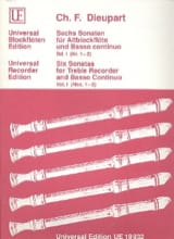 6 Sonaten für Altblockflöte u. Bc - Bd. 1 laflutedepan.com