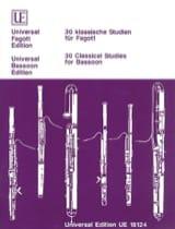 - 30 klassische Studien für Fagott - Sheet Music - di-arezzo.com