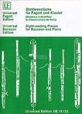 - Blattlesestücke für Fagott und Klavier - Sheet Music - di-arezzo.com