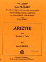 Ariette Jean Calmel Partition Hautbois - laflutedepan.com