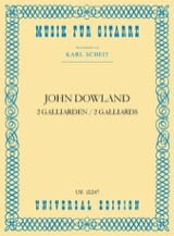 2 Galliarden John Dowland Partition Guitare - laflutedepan.com