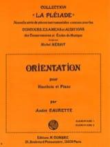 Orientation André Caurette Partition Hautbois - laflutedepan.com