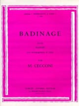 Badinage Monic Cecconi Partition Basson - laflutedepan.com