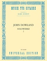 Solowerke Band I John Dowland Partition Guitare - laflutedepan.com