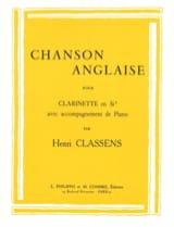 Chanson anglaise CLASSENS Partition Clarinette - laflutedepan